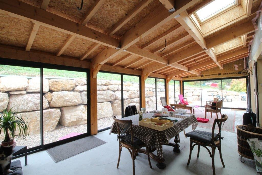 charpente bois pour veranda