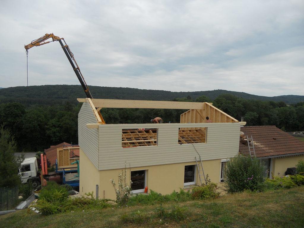Charpente mortier r alisation de maison ossature bois for Visualiser une maison